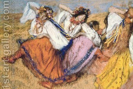 Russian Dancers III by Edgar Degas - Reproduction Oil Painting