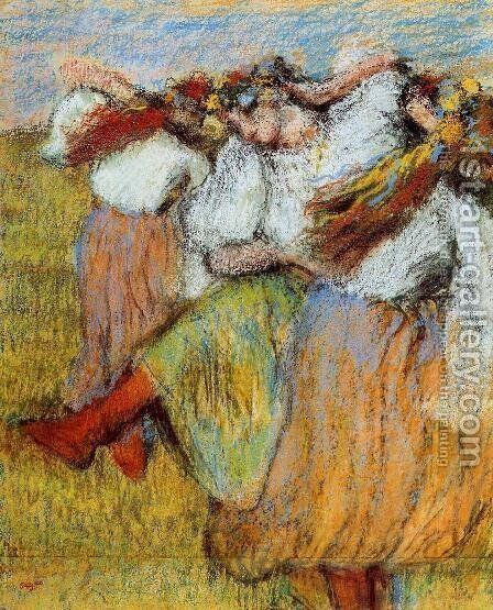 Russian Dancers IV by Edgar Degas - Reproduction Oil Painting