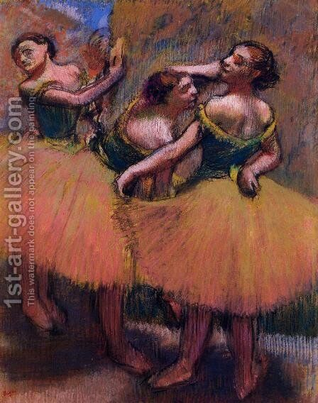 Three Dancers, Green Blouses by Edgar Degas - Reproduction Oil Painting