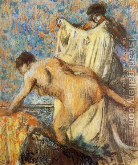 Woman Leaving Her Bath II by Edgar Degas - Reproduction Oil Painting