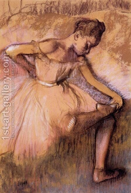 Pink Dancer II by Edgar Degas - Reproduction Oil Painting