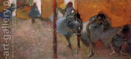 Dancers in a Studio by Edgar Degas - Reproduction Oil Painting