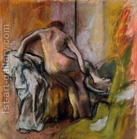 Leaving the Bath by Edgar Degas - Reproduction Oil Painting