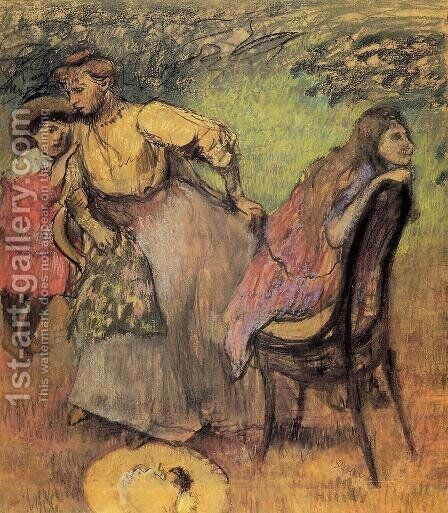 Madame Alexis Rouart and Her Children by Edgar Degas - Reproduction Oil Painting
