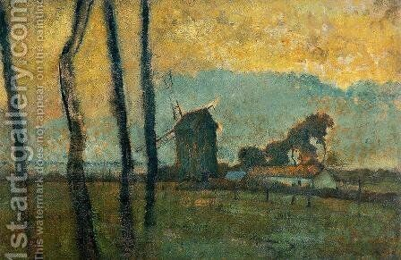 Landscape at Valery-sur-Somme by Edgar Degas - Reproduction Oil Painting