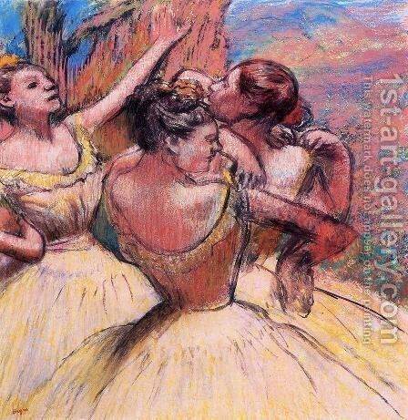 Three Dancers III by Edgar Degas - Reproduction Oil Painting