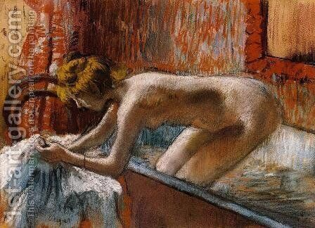 Woman Leaving Her Bath III by Edgar Degas - Reproduction Oil Painting
