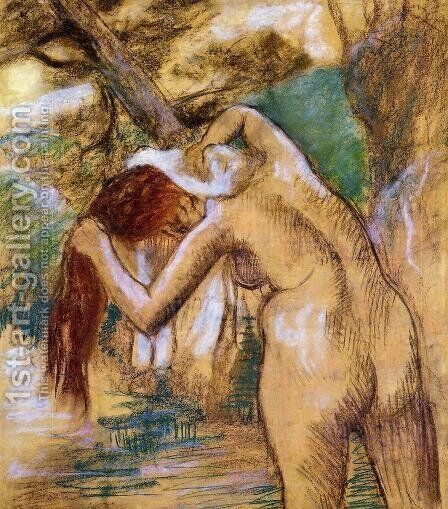 Bather by the Water by Edgar Degas - Reproduction Oil Painting