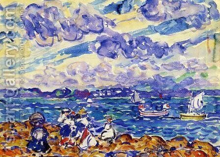 St. Malo I by Maurice Brazil Prendergast - Reproduction Oil Painting