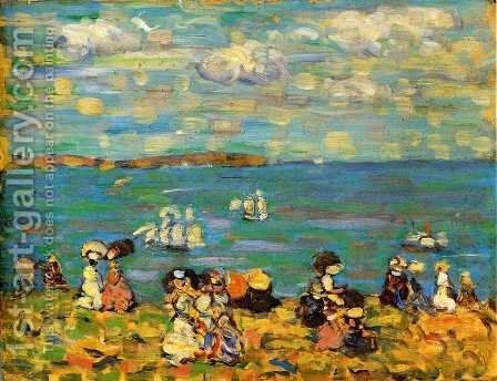 St. Malo II by Maurice Brazil Prendergast - Reproduction Oil Painting