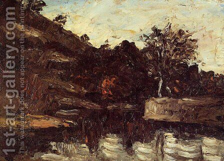 A Bend in the River by Paul Cezanne - Reproduction Oil Painting
