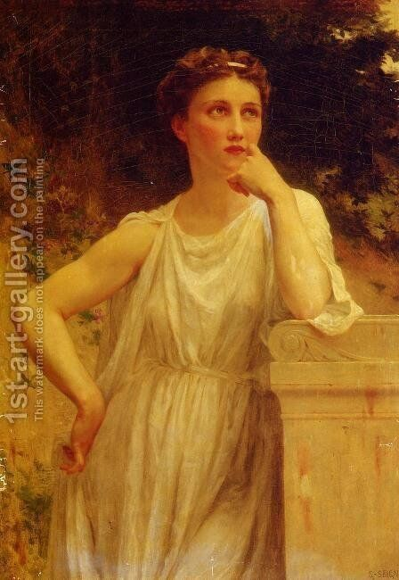 A Wistful Moment by Guillaume Seignac - Reproduction Oil Painting