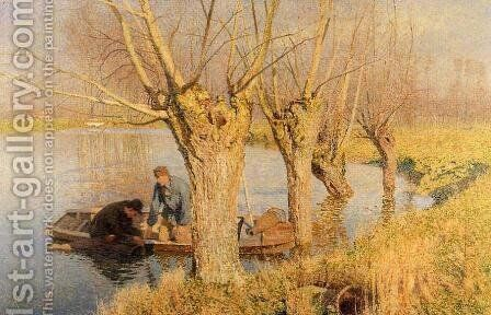 Bringing in the Nets by Emil Claus - Reproduction Oil Painting