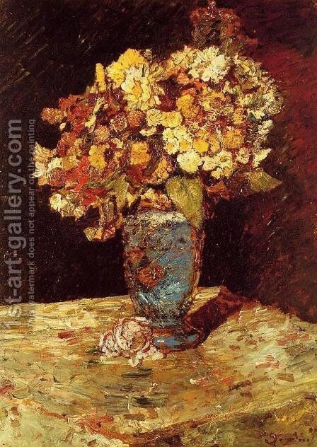 Still Life with Wild and Garden Flowers by Adolphe Joseph Thomas Monticelli - Reproduction Oil Painting