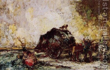 The Hay Card by Adolphe Joseph Thomas Monticelli - Reproduction Oil Painting