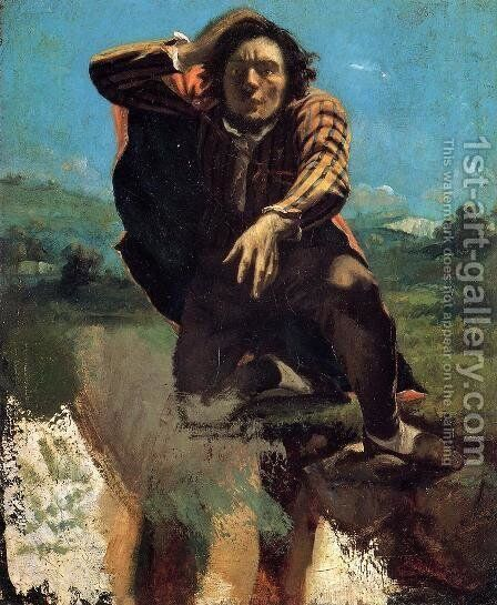 The Desperate Man by Gustave Courbet - Reproduction Oil Painting