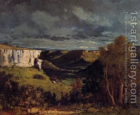 The Valley of the Loue in Stormy Weather by Gustave Courbet - Reproduction Oil Painting