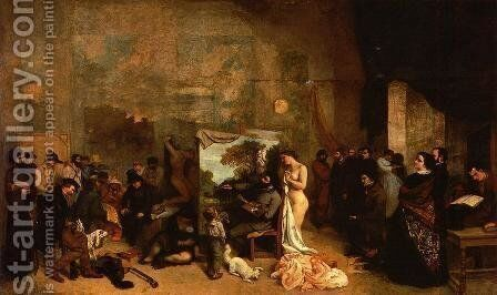 My Atelier by Gustave Courbet - Reproduction Oil Painting