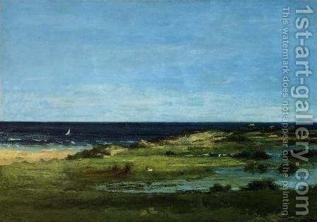 Seacoast by Gustave Courbet - Reproduction Oil Painting