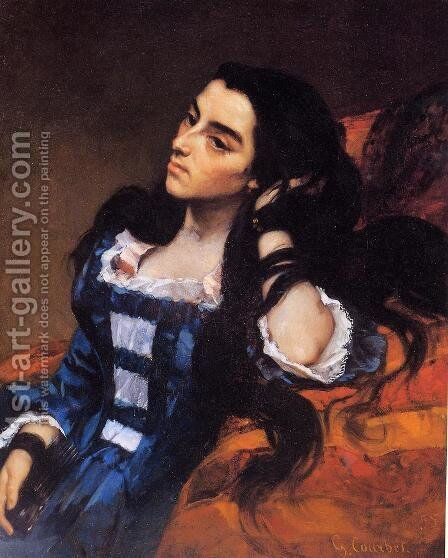 Portrait of a Spanish Lady by Gustave Courbet - Reproduction Oil Painting