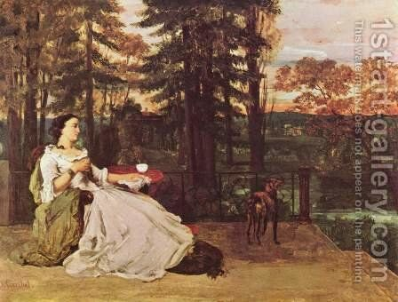 The Lady of Frankfurt by Gustave Courbet - Reproduction Oil Painting