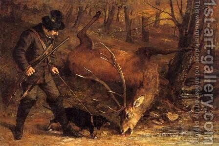 The German Huntsman by Gustave Courbet - Reproduction Oil Painting