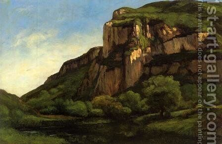 Rocks at Mouthier by Gustave Courbet - Reproduction Oil Painting