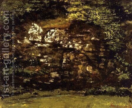 In the Woods by Gustave Courbet - Reproduction Oil Painting