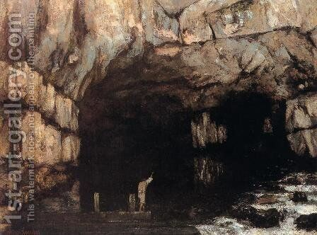 The Source of the Loue River by Gustave Courbet - Reproduction Oil Painting