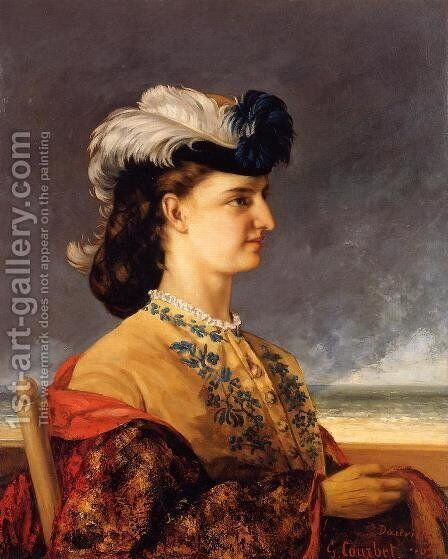 Portrait of Countess Therese Burnswick by Gustave Courbet - Reproduction Oil Painting