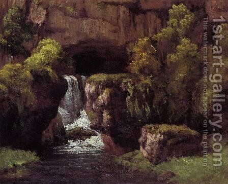 The Source of the Lison by Gustave Courbet - Reproduction Oil Painting