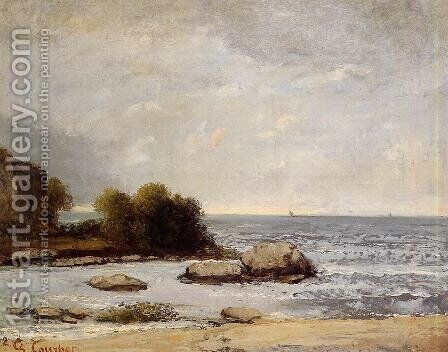 Seascape at Saint-Aubin by Gustave Courbet - Reproduction Oil Painting