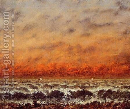 Seascape I by Gustave Courbet - Reproduction Oil Painting