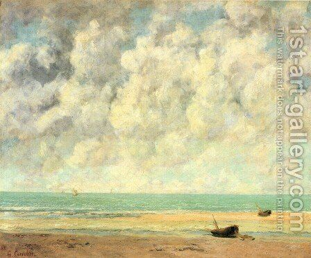 The Calm Sea by Gustave Courbet - Reproduction Oil Painting