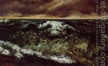 The Angry Sea by Gustave Courbet - Reproduction Oil Painting
