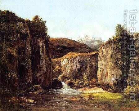 Landscape: The Source among the Rocks of the Doubs by Gustave Courbet - Reproduction Oil Painting
