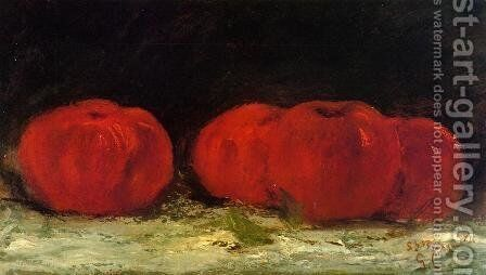 Red Apples by Gustave Courbet - Reproduction Oil Painting
