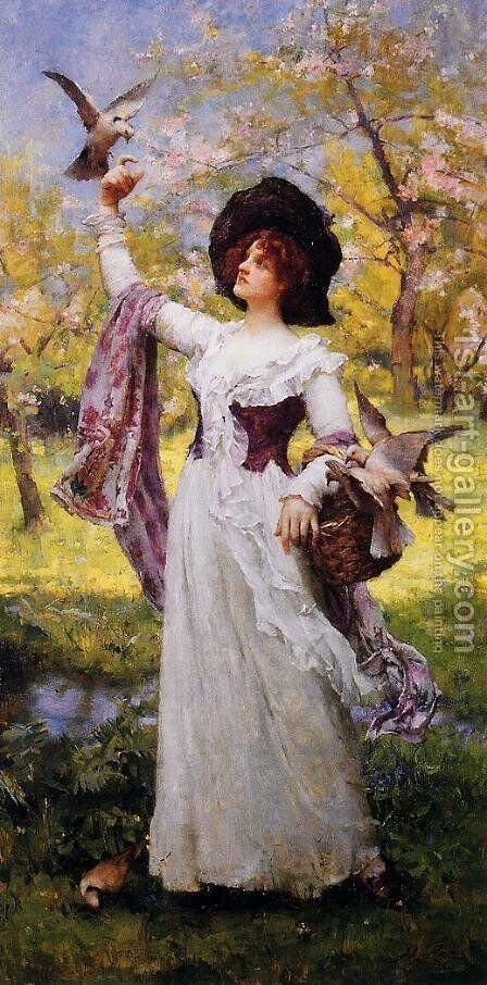 Summer by Henrietta Rae (Mrs. Ernest Normand) - Reproduction Oil Painting