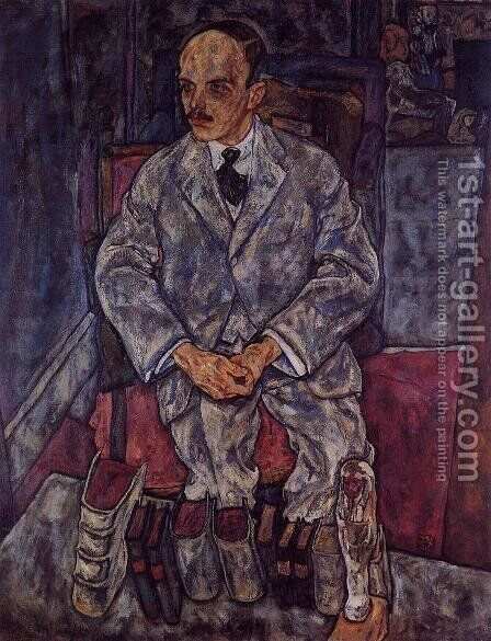 The Art Dealer Guido Arnot by Egon Schiele - Reproduction Oil Painting