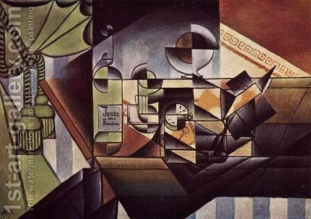 The Watch by Juan Gris - Reproduction Oil Painting
