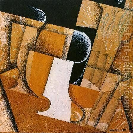 The Glass by Juan Gris - Reproduction Oil Painting