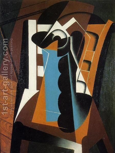 Still Life on a Chair by Juan Gris - Reproduction Oil Painting