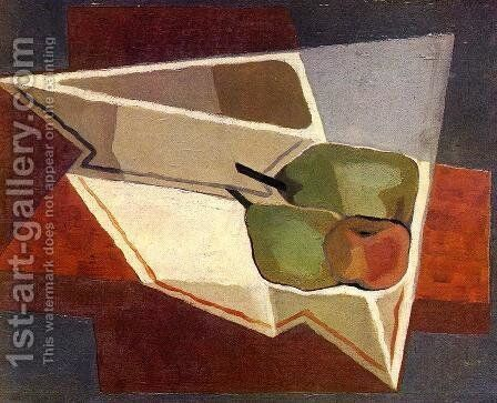 Fruit with Bowl by Juan Gris - Reproduction Oil Painting