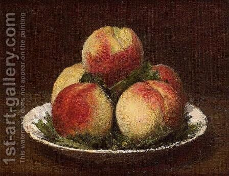 Peaches I by Ignace Henri Jean Fantin-Latour - Reproduction Oil Painting