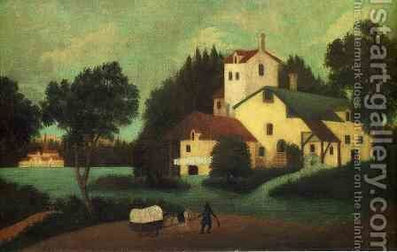 Wagon in Front of the Mill by Henri Julien Rousseau - Reproduction Oil Painting