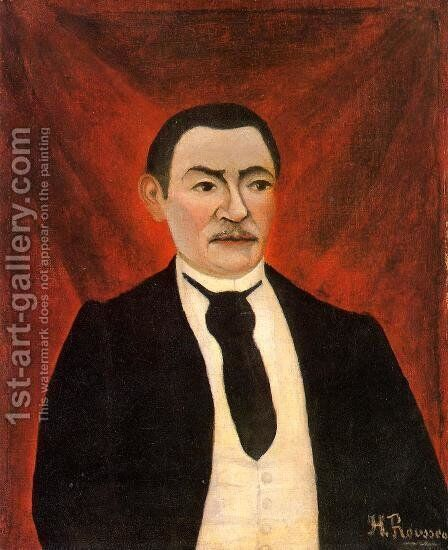 Portrait of Monsieur S by Henri Julien Rousseau - Reproduction Oil Painting