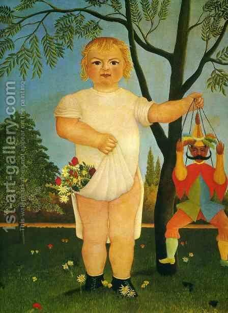 Child with Puppet by Henri Julien Rousseau - Reproduction Oil Painting