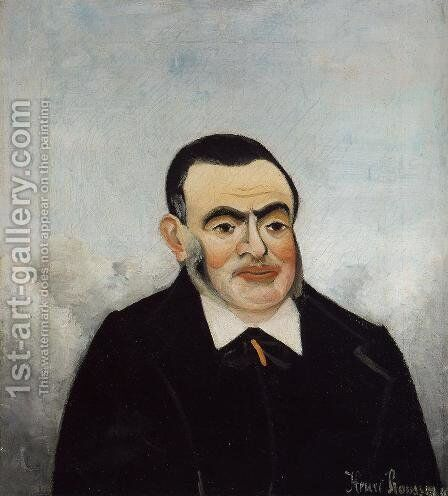 Portrait of a Man by Henri Julien Rousseau - Reproduction Oil Painting
