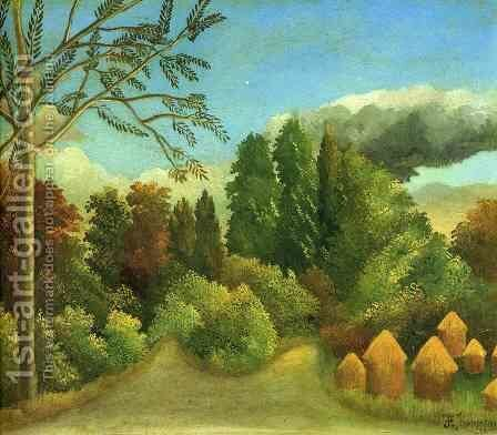 View of the Banks of the Oise by Henri Julien Rousseau - Reproduction Oil Painting