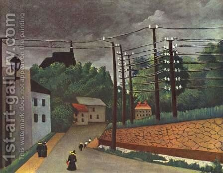 View of Malakoff by Henri Julien Rousseau - Reproduction Oil Painting